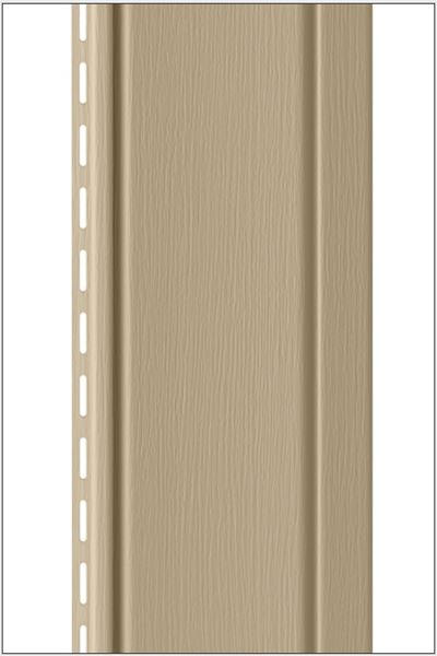 Vertical vinyl siding panel projection