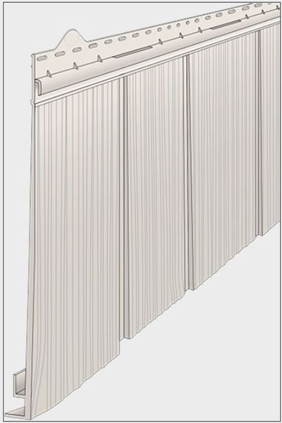 Shake vinyl siding panel projection of Hand Split Shake