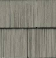 Traditional 7'' shake siding appearance.
