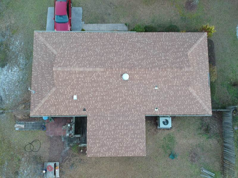 Roof top view layout in fort smith, AR . Roof type: Dutch hip roof.