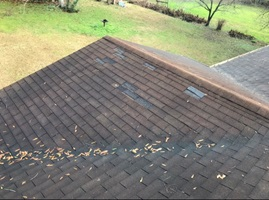 Missing shingles on Fort Smith AR roof.