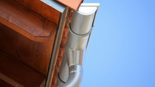Round shape steel gutter and downspout