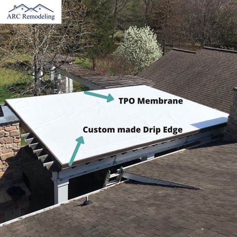 Flat roof on Fayetteville AR detached structure