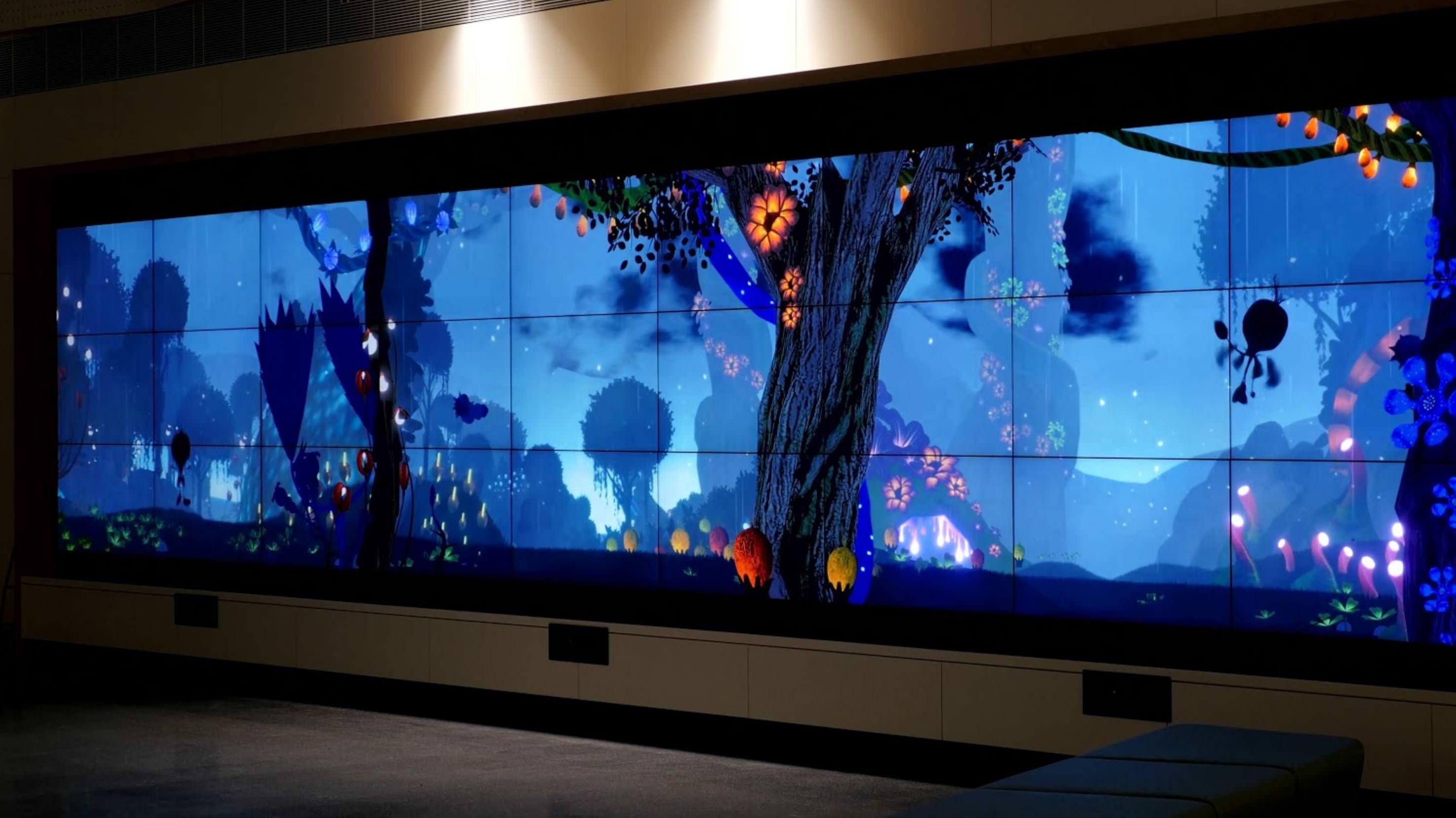 Ouva video wall installation at Monash Children's Hospital lobby