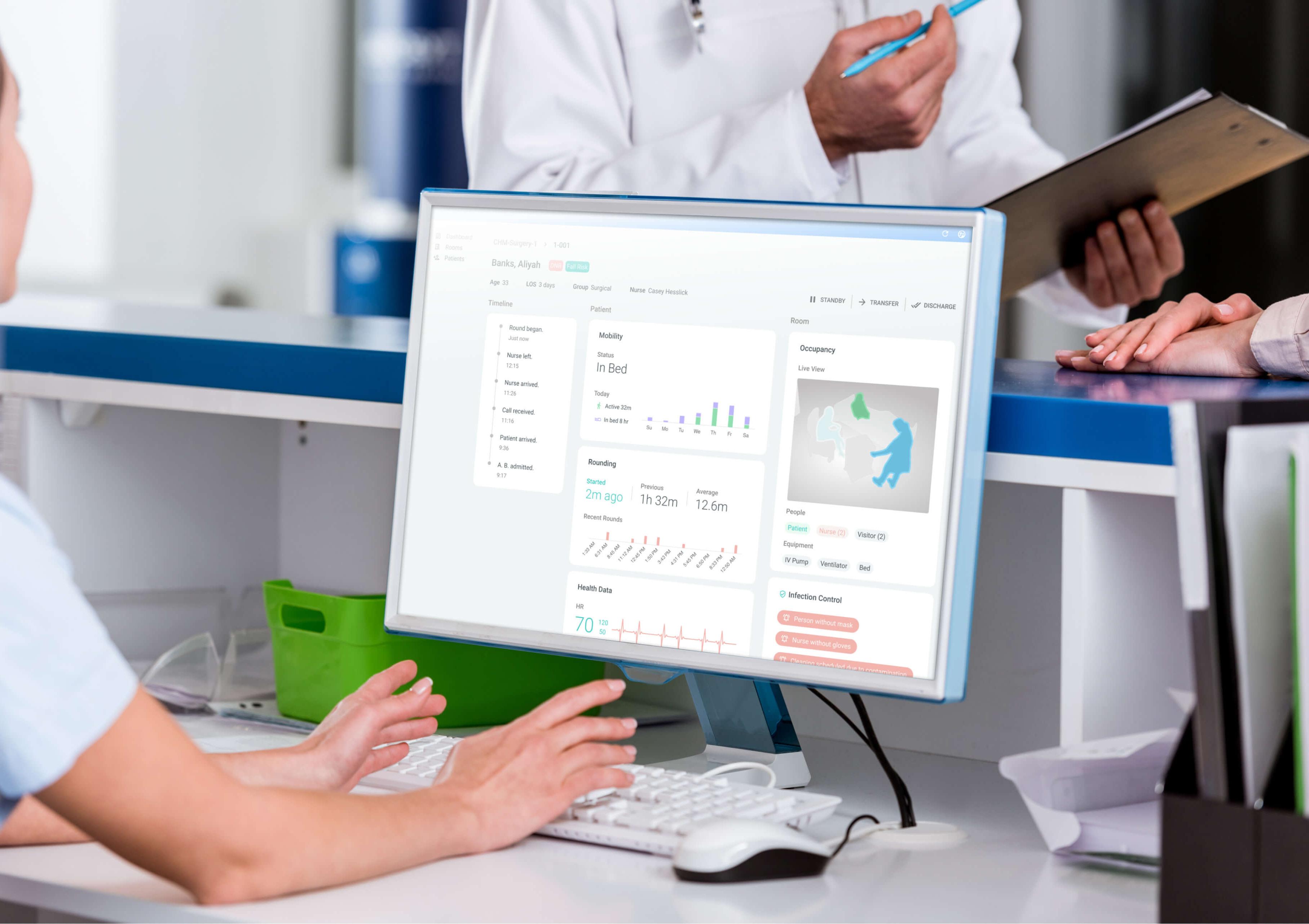 Remote patient monitoring dashboard