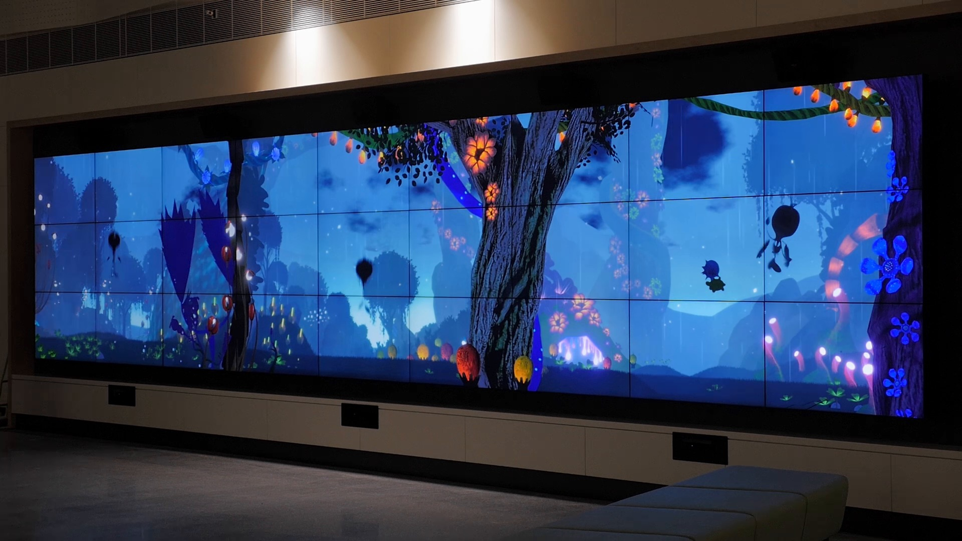 Interactive video wall at Monash Children's Hospital in Melbourne Australia