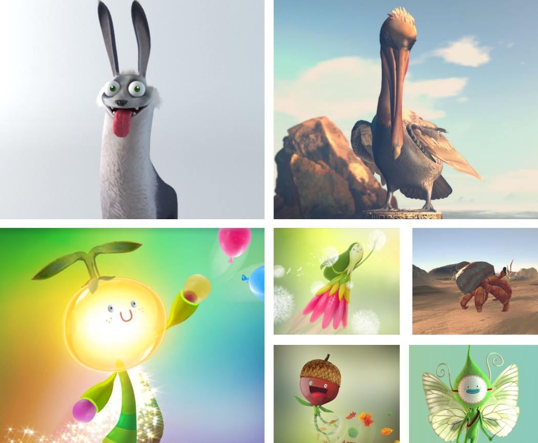 Colorful Ouva companion characters