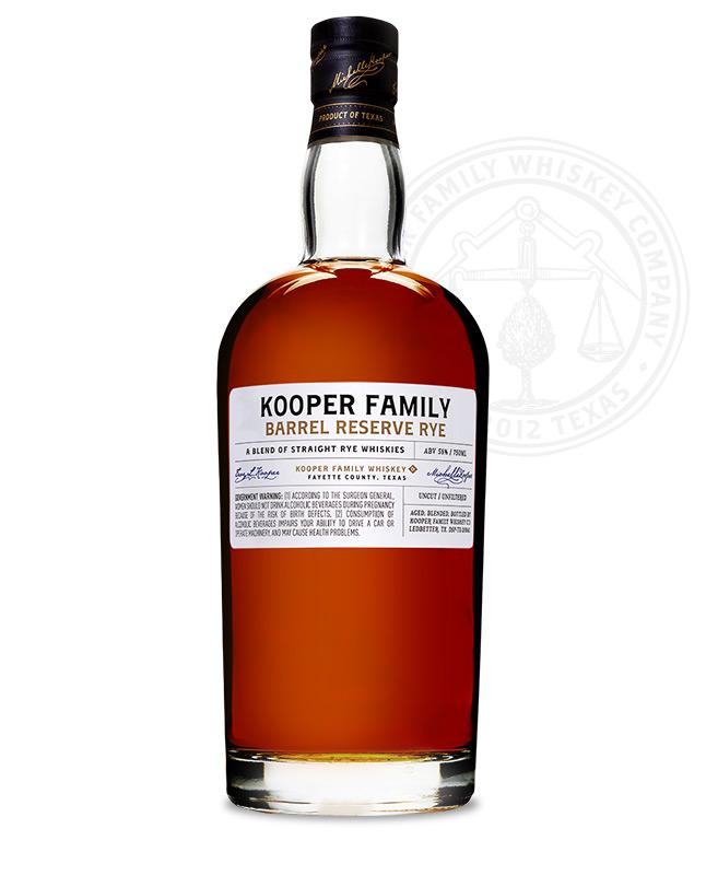 Kooper Family Barrel Reserve Rye Whiskey