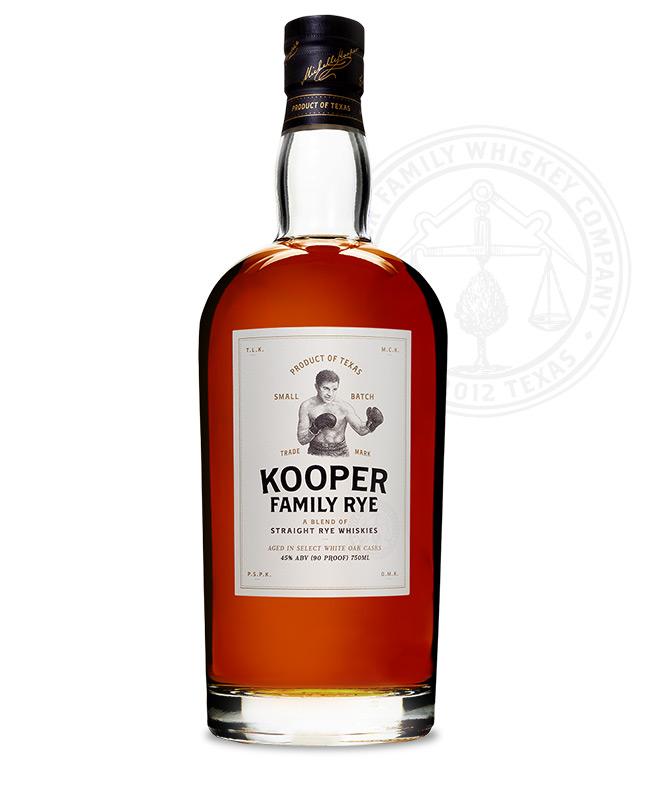 Kooper Family Rye Whiskey Best in Texas