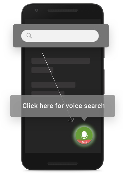 Slang provides domain agnostic assistant. Instead of typing to search, allow users to search in your app using voice.