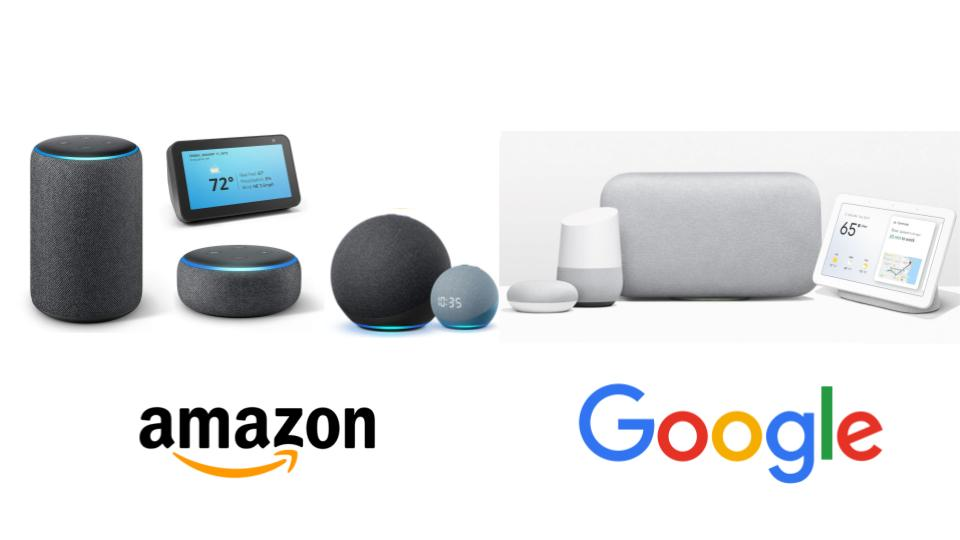 First party smart devices by Google and Amazon