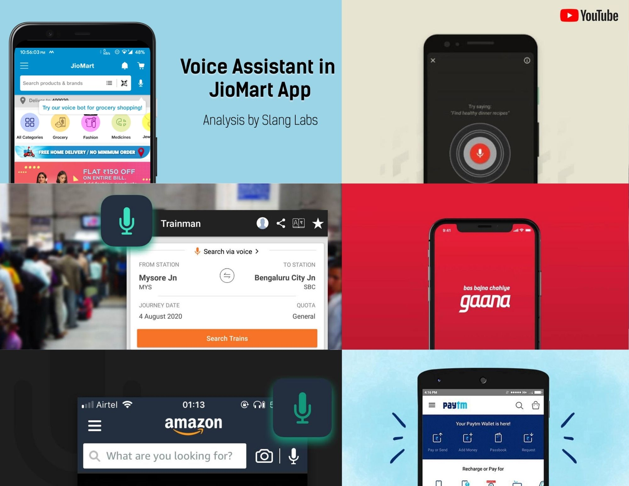 Voice Assistants in various apps