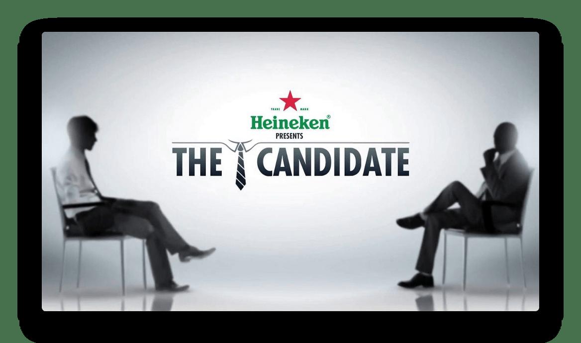 """Heineken a joué la carte de l'originalité avec son recrutement """"The candidate"""""""