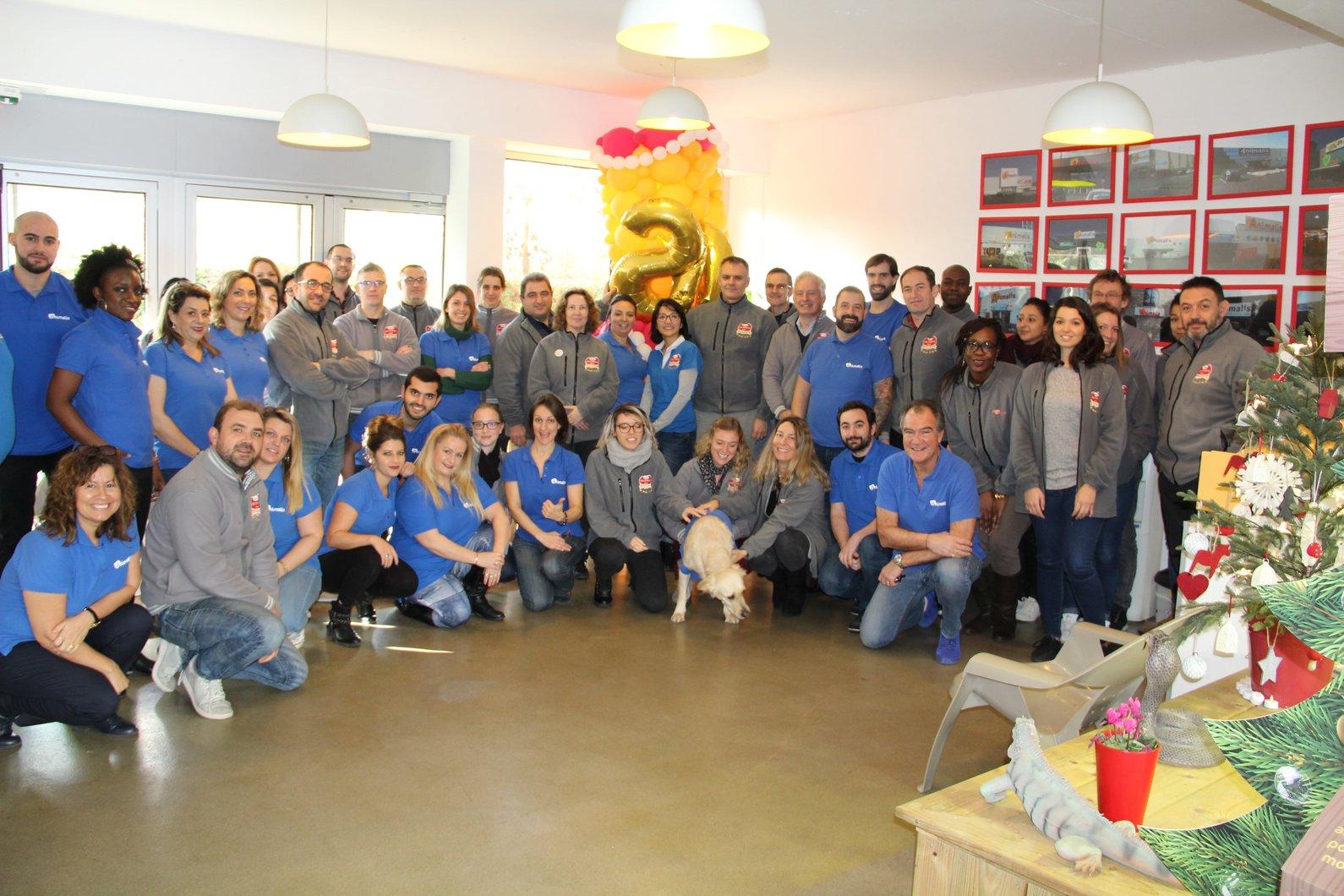 L'équipe Animalis au sein du siège social à Courcouronnes (91)