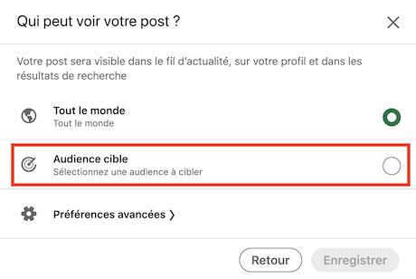 Target Audience posts LinkedIn Entreprises 2/3