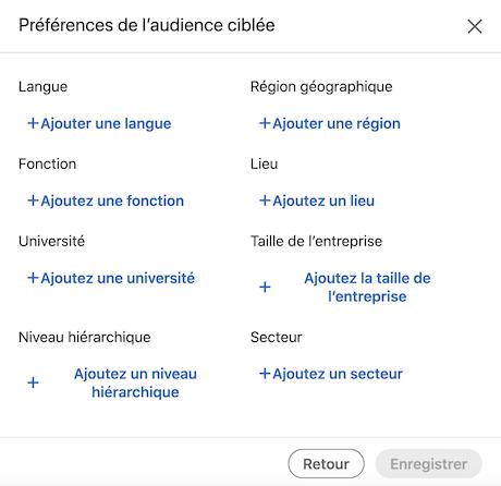 Target Audience posts LinkedIn Entreprises 3/3