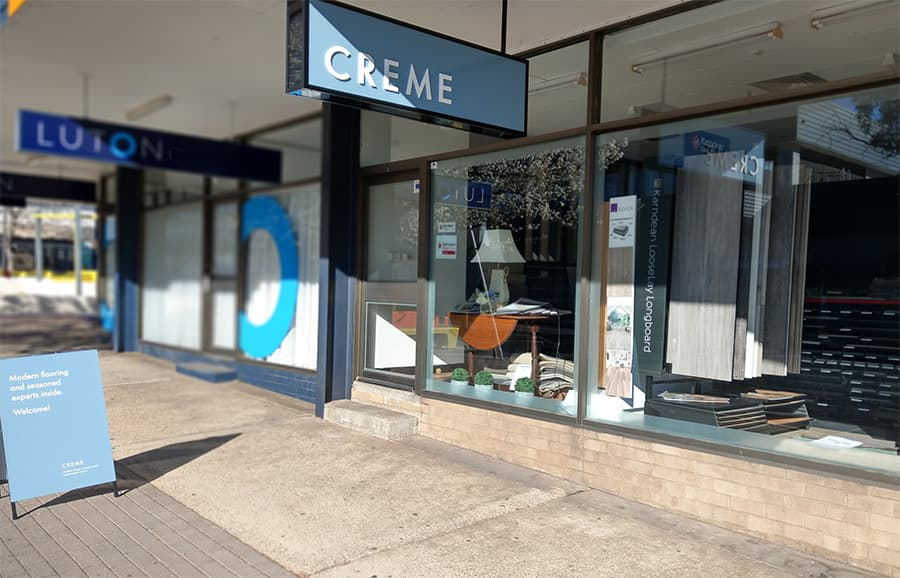 The new Creme Carpets showroom in Canberra