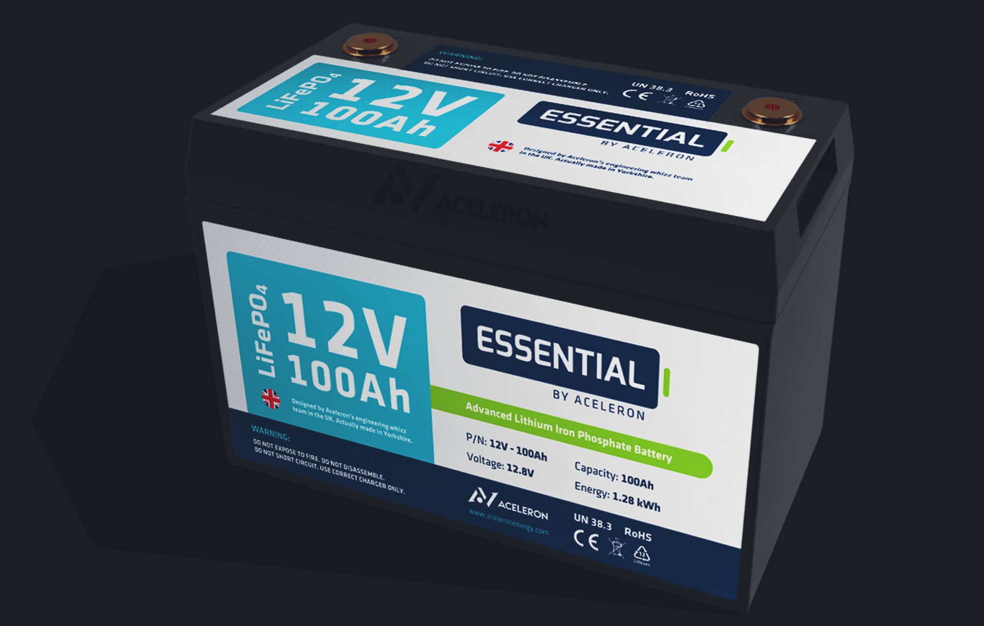 12V 100Ah Essential battery by Aceleron
