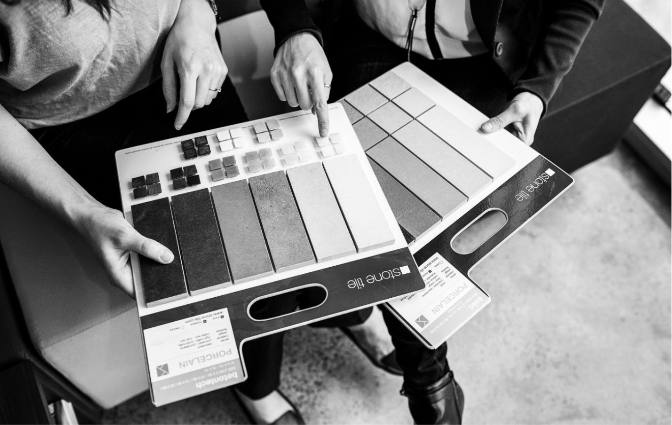 Selecting ceramic tiles