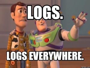 searching manually through log data