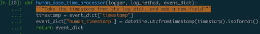 A log enrichment function