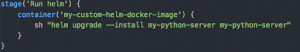 Our own docker-image, which is a pod in k8s