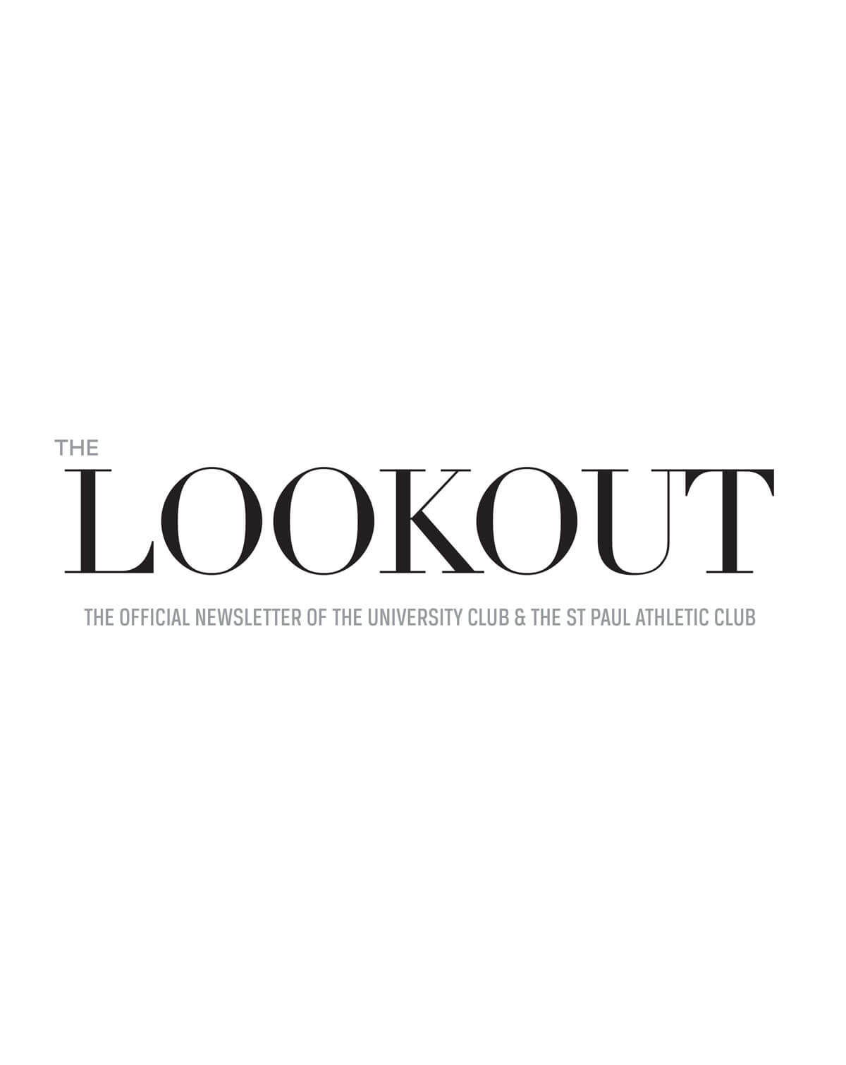 The Lookout Club Newsletter Cover