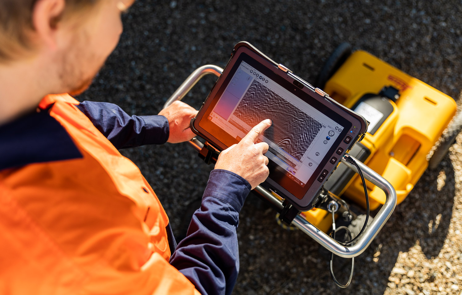 Ground Penetrating Radar used by FindIt Geosystems Wanaka NZ