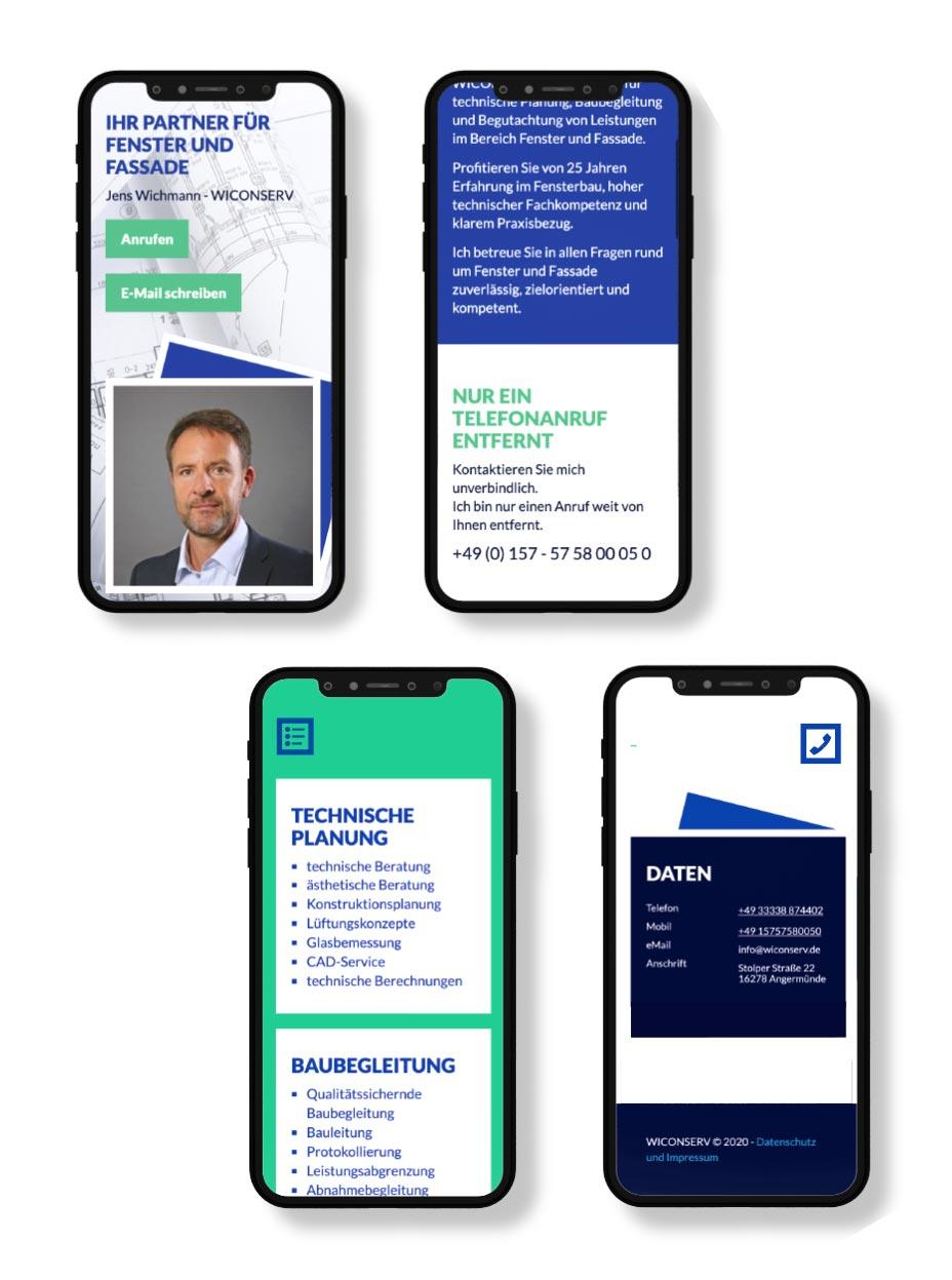 Responsive Webdesign Wiconserv - Angermünde