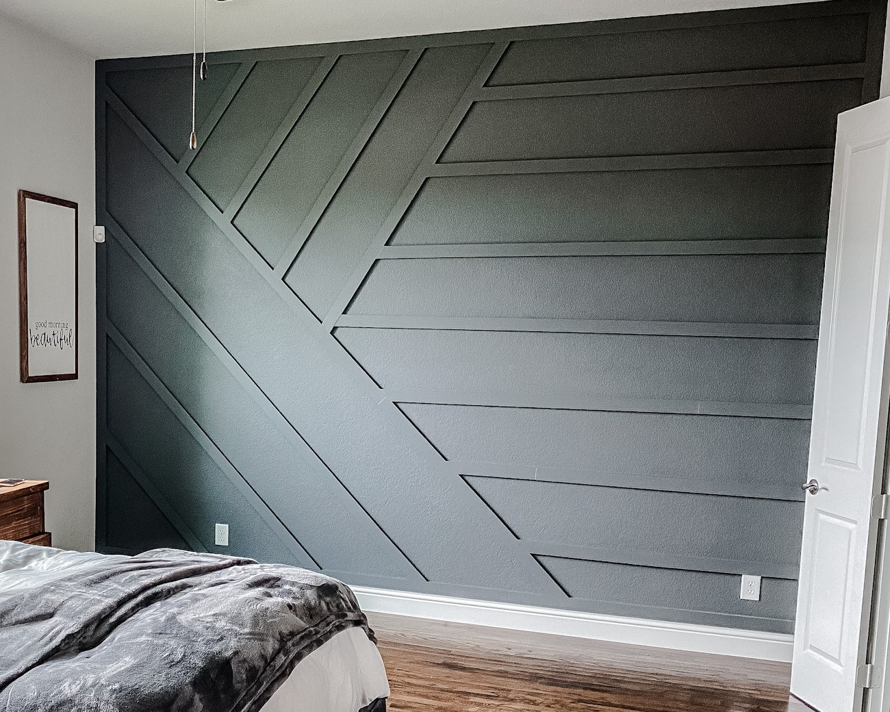 Modern Wood Accent Wall - Dark Ash