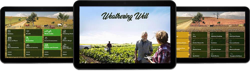 App displayed in screens
