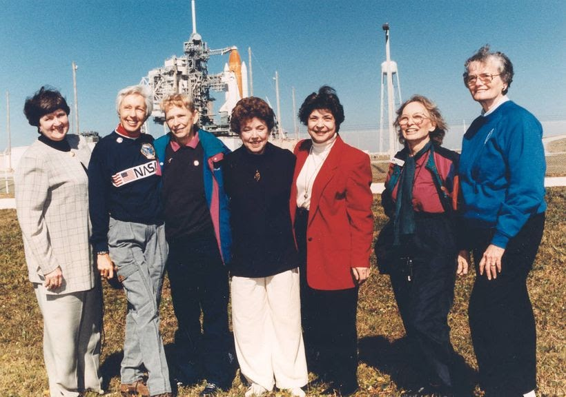 """Members of the First Lady Astronaut Trainees (FLATs, also known as the """"Mercury 13""""), these seven women who once aspired to f"""