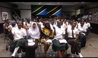 From Tanzania, girls also skyped in to engage in the global conversation on Girls' education