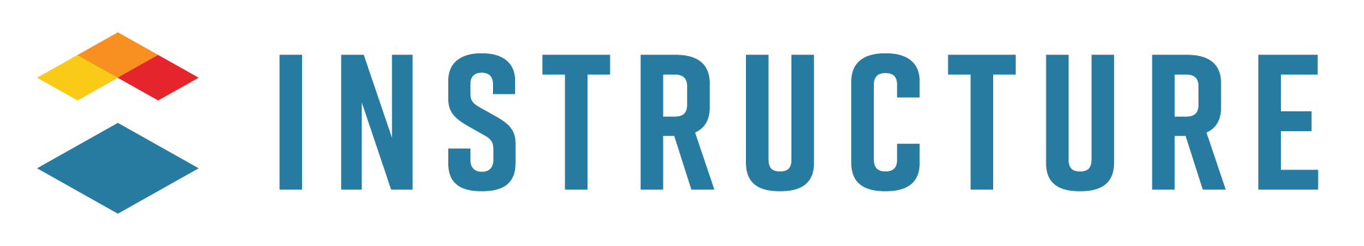 """The Instructure logo, light blue text spelling out """"Instructure"""""""