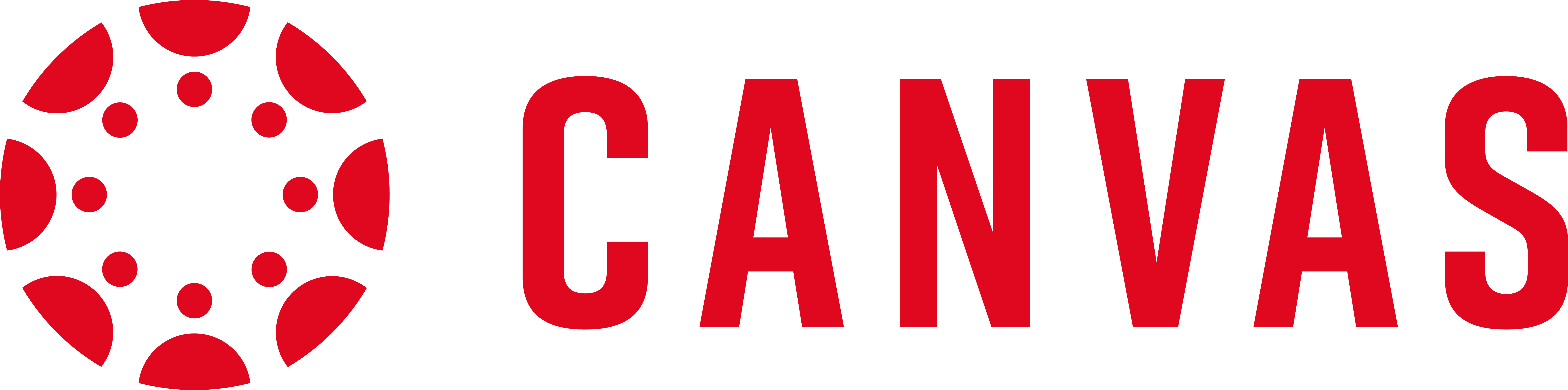 """The Canvas logo; red text spelling out """"Canvas"""""""