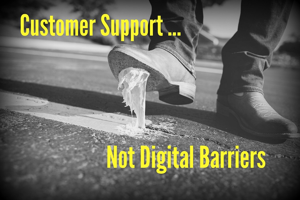 Customer Support; Not Digital Barriers