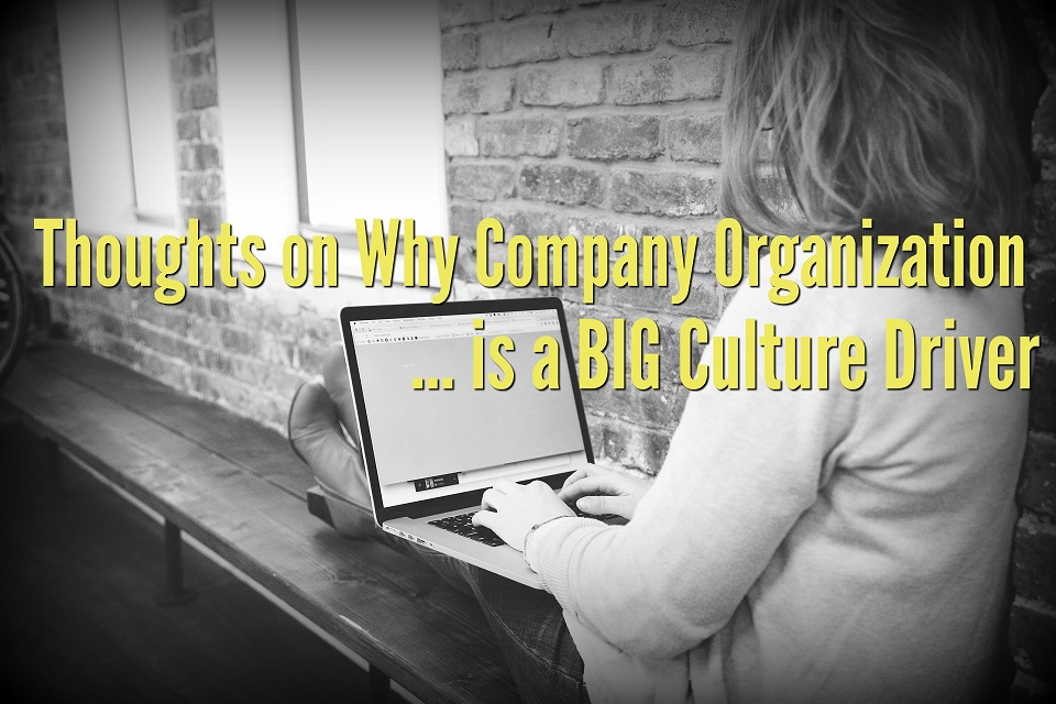 Thoughts on Why Company Organization is a Big Culture Driver