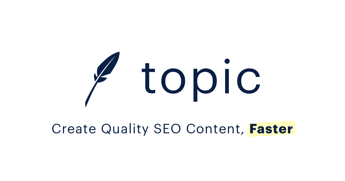 The Best SEO Content Optimization Tool - Topic
