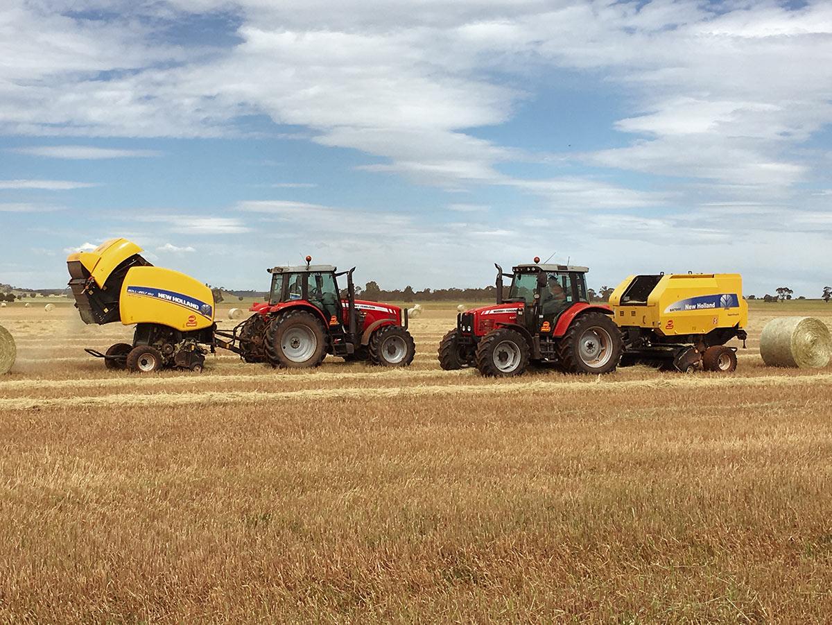 Jones Haybaling, two tractors in the field