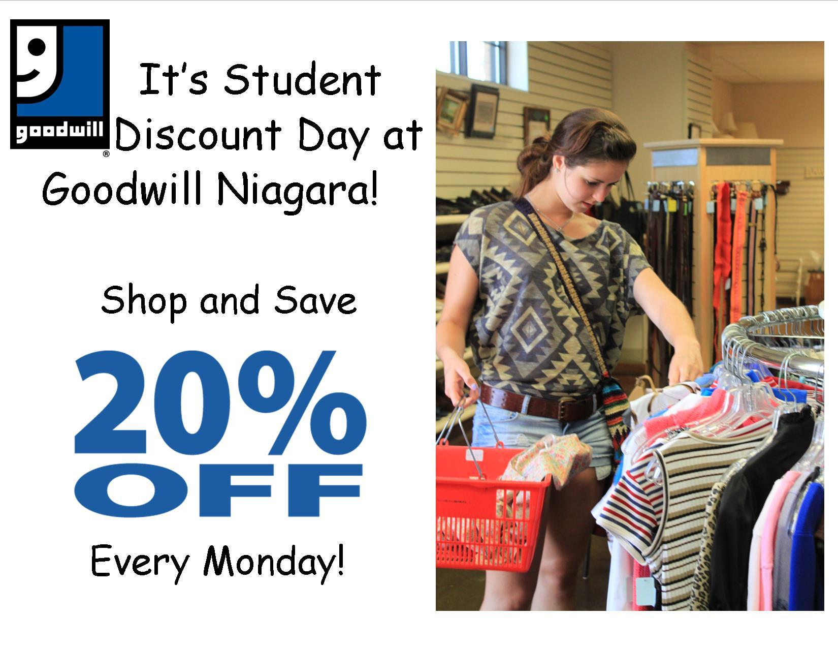 Student Discount Monday