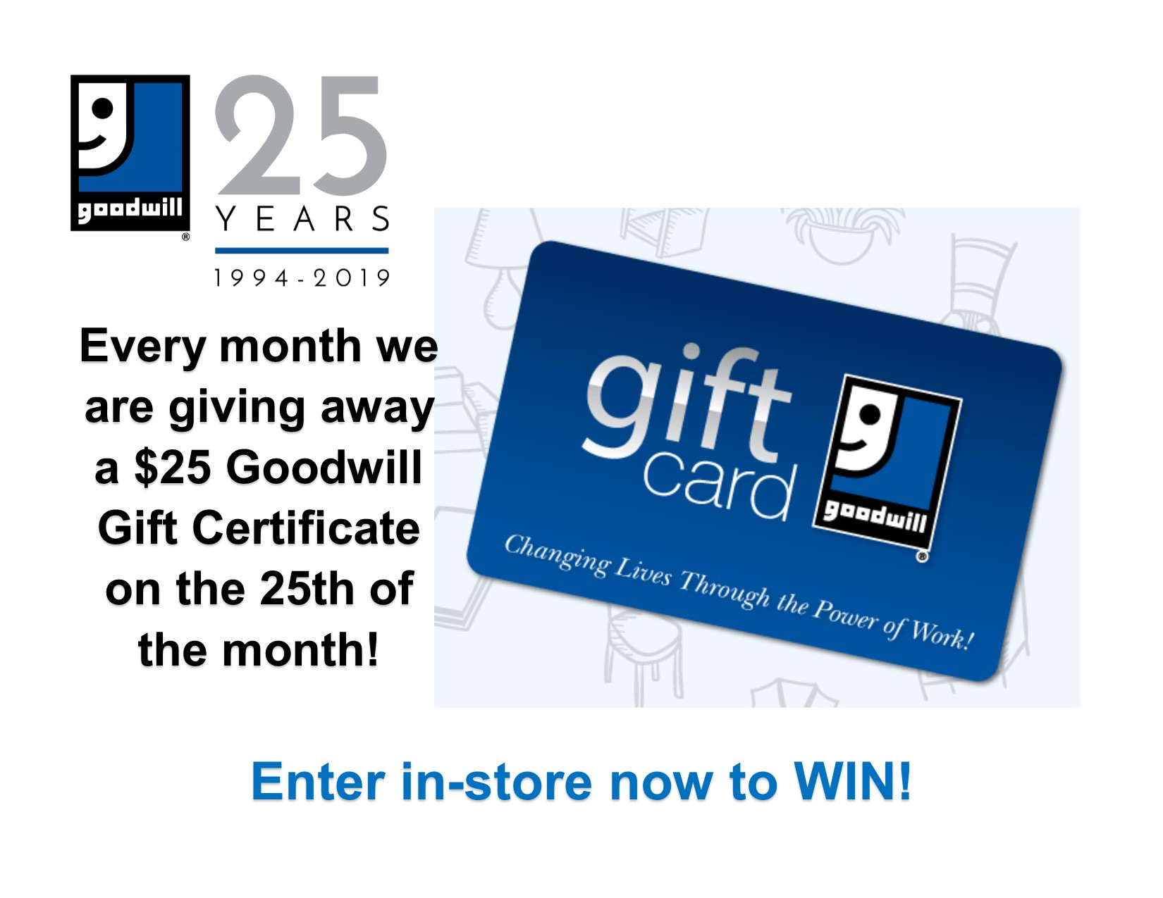 $25 Goodwill Gift Card Giveaway