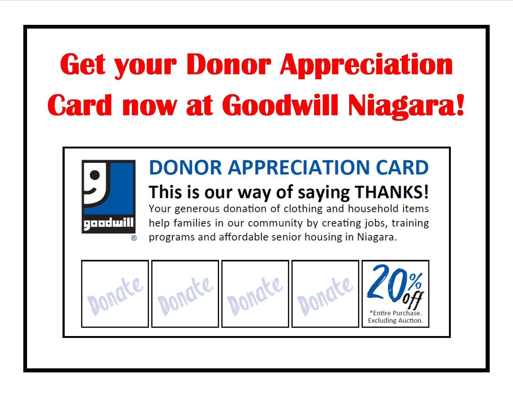 GWN Donor Appreciation Card