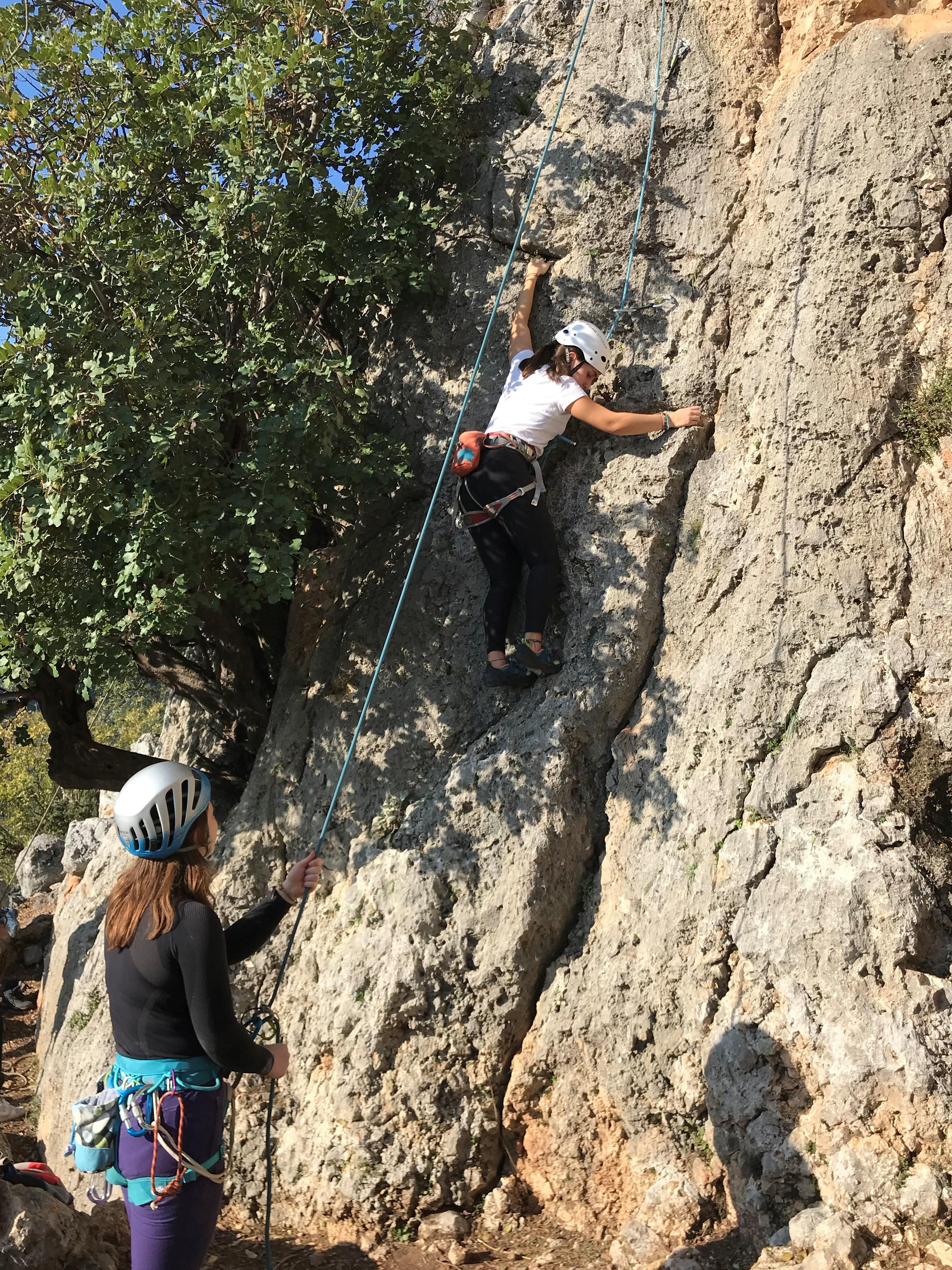 geyikbayırı top rope (üstten emniyetli) tırmanış
