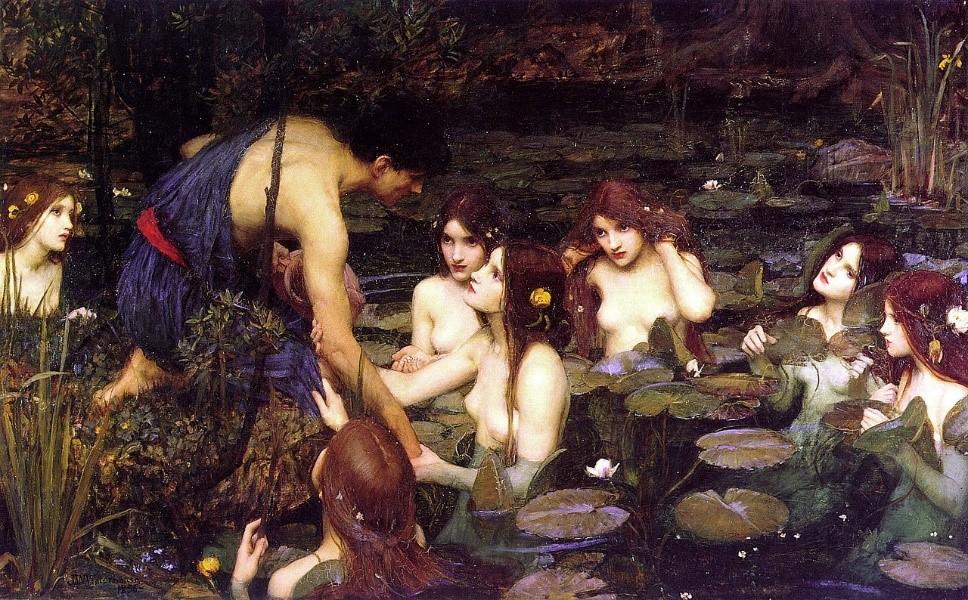 Hylas ve Nemfler, J.W. Waterhouse 1896