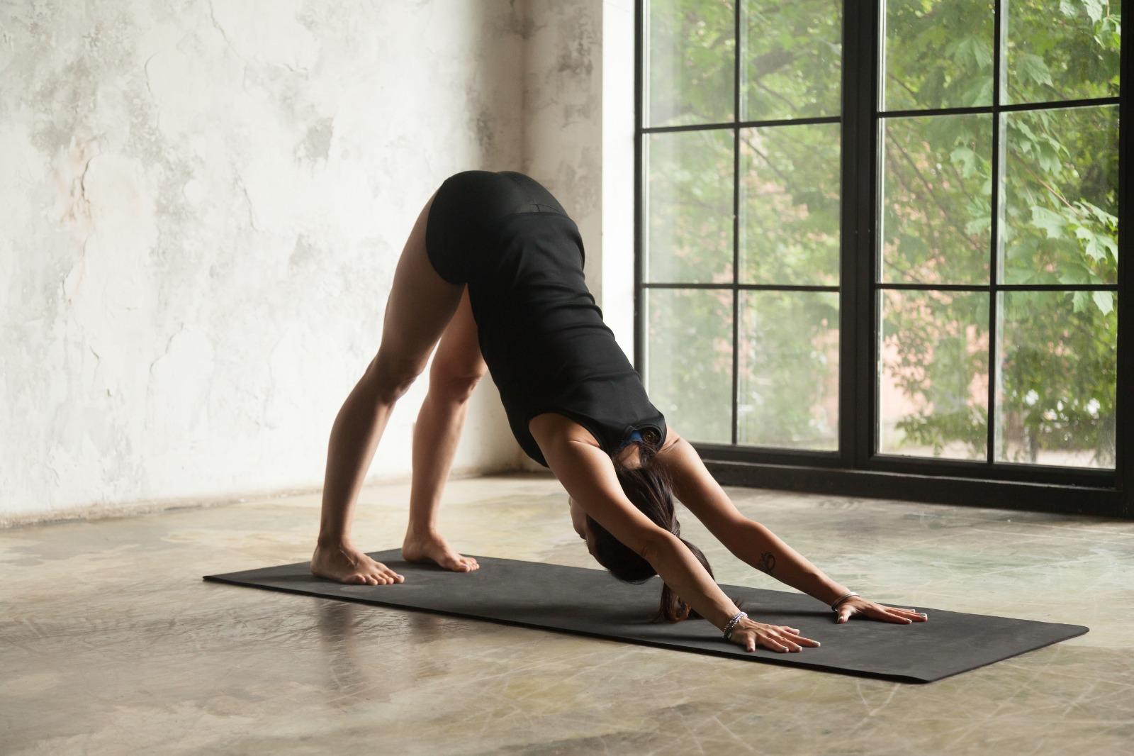 aşağı bakan köpek yoga pozu