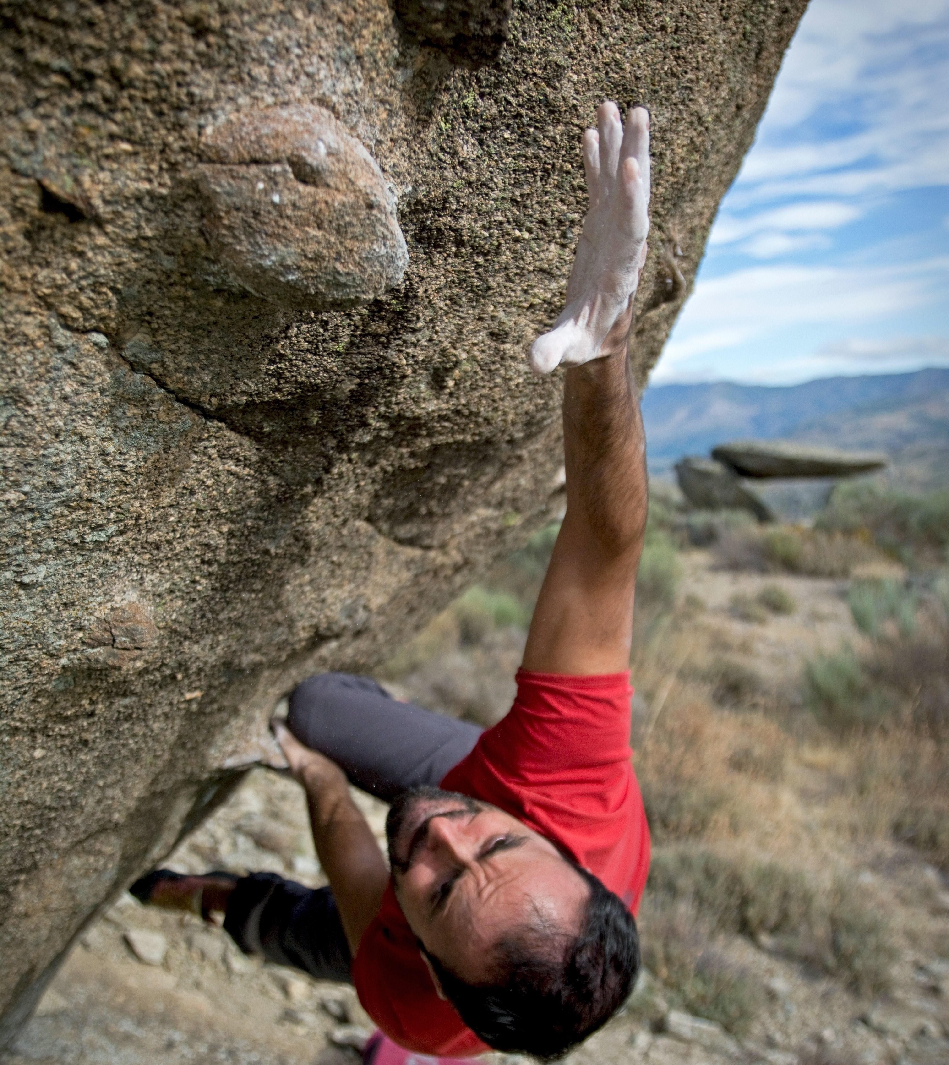 kaya tırmanışı boulder