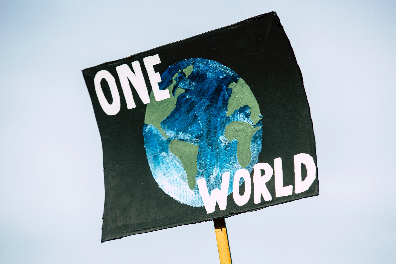 one world iklim değişikliği afiş