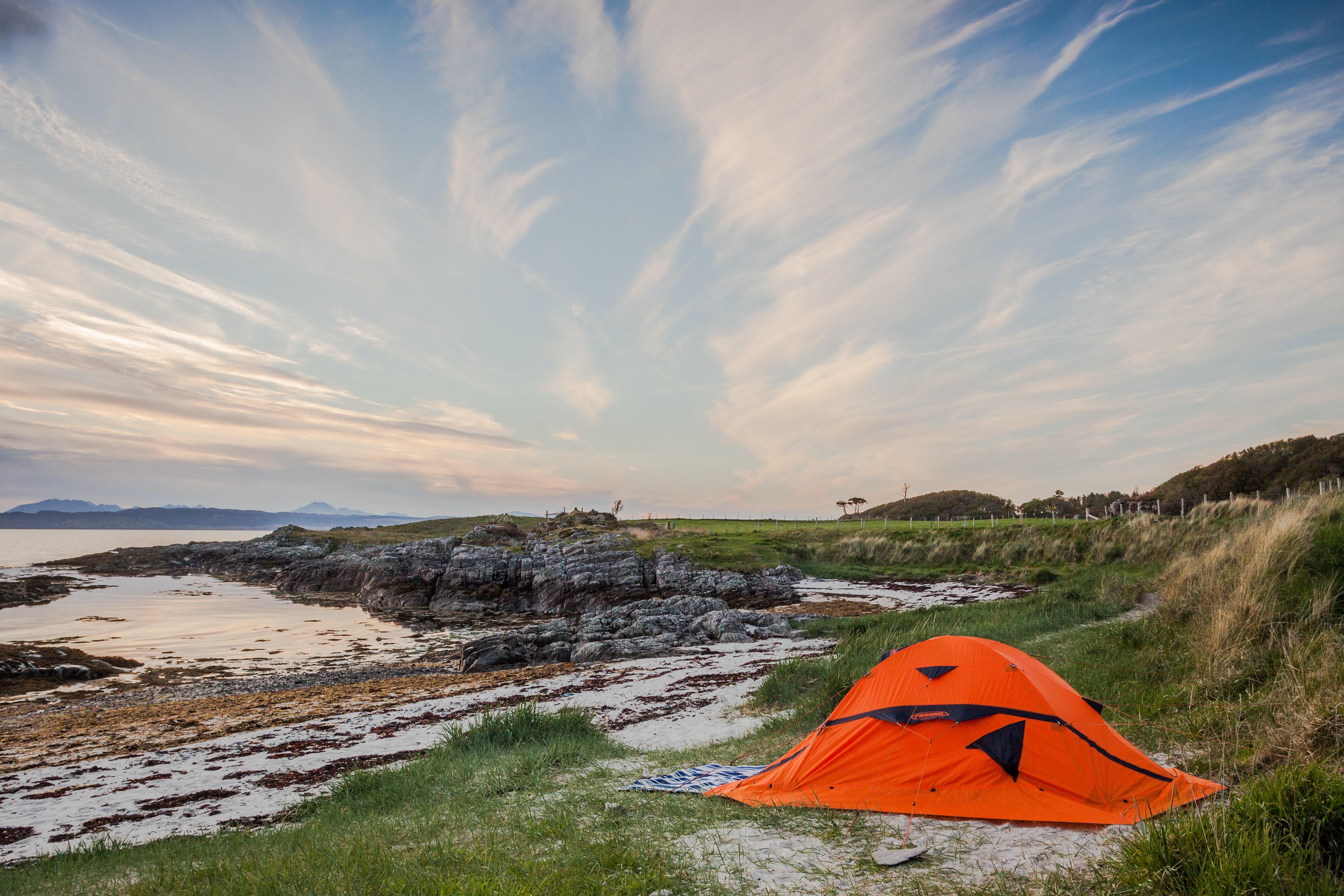 çadır kamp doğa deniz