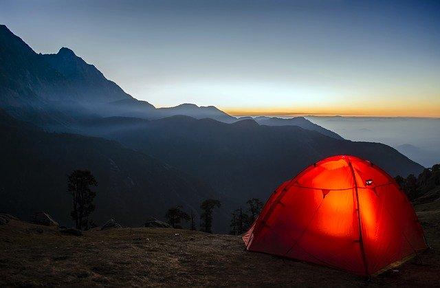 çadır doğa kamp bulut gün batımı