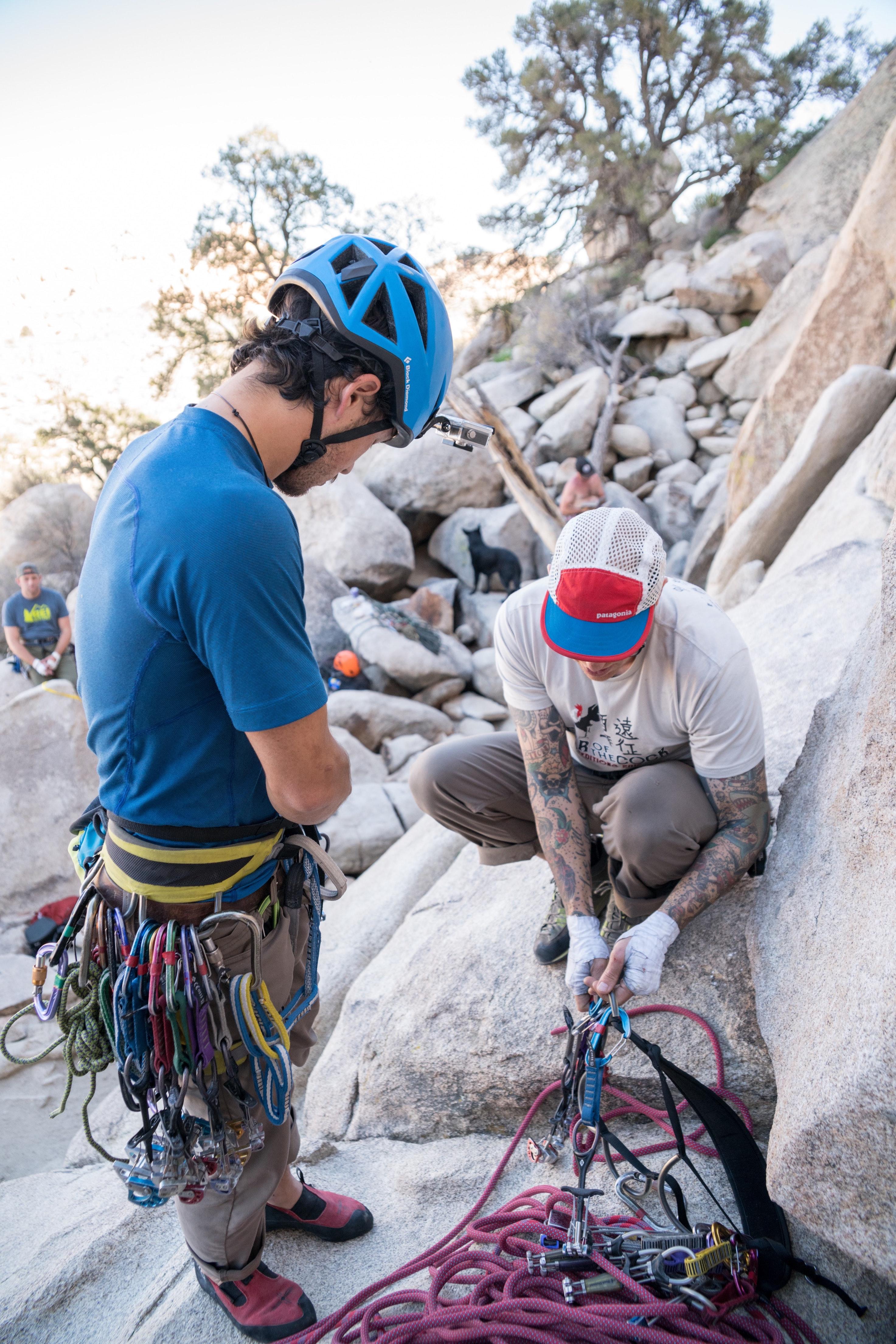 kaya tırmanışı malzemeleri